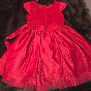 Girl's red holiday dress